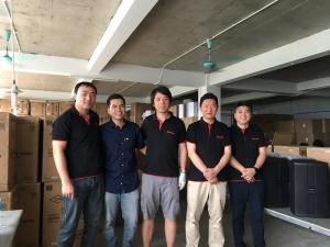 Chuyên gia và cán bộ kỹ thuật thương hiệu Loa DAM làm việc tại Công ty Cổ Phần BTE