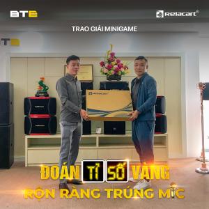 """BTE trao quà cho khách hàng may mắn khi tham dự Mini game """"Đoán tỉ số vàng, rộn ràng trúng mic"""""""